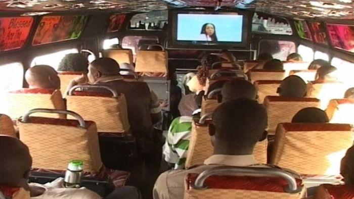 Passengers in a matatu