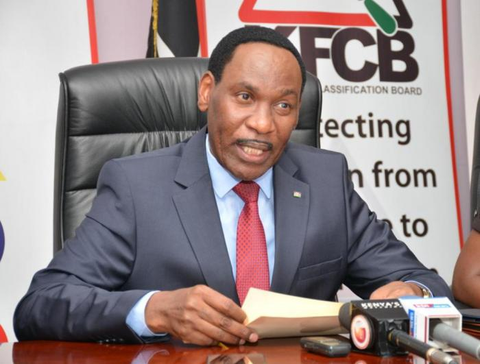 Kenya Film Classification Board CEO Ezekiel Mutua.