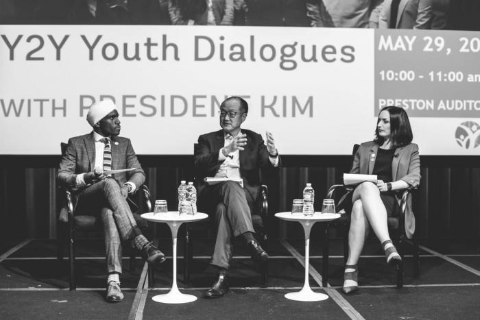 David Wachira engaging in a Y2Y Youth engagement seminar.