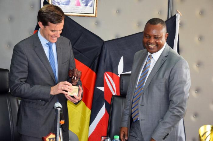 DCI boss George Knioti with the German Ambassador