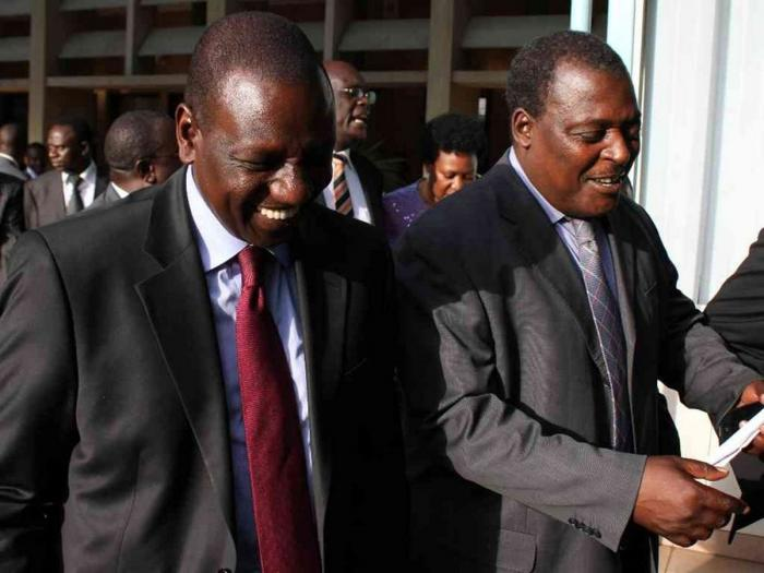 Deputy President William Ruto and Cyrus Jirongo at a past event. The two spearheaded YK'92, the youth wing Moi used to secure his re-election