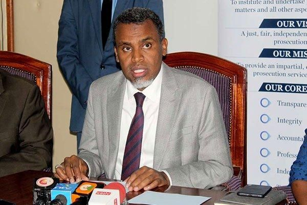Director of Public Prosecutions Noordin Haji addresses a press conference at his Nairobi office on July 22, 2019