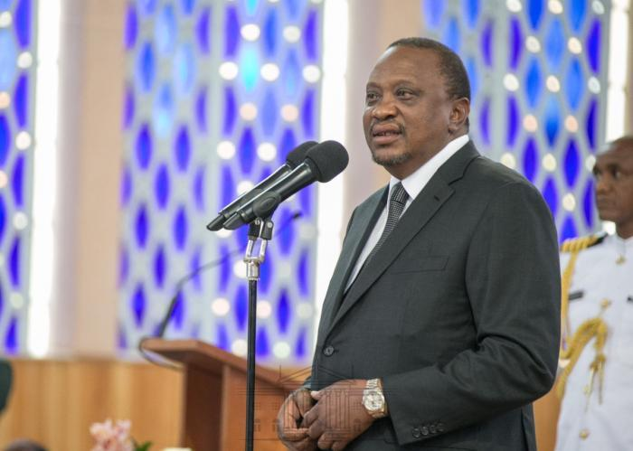 President Uhuru Kenyatta speaks at Holy family Basilica in Nairobi