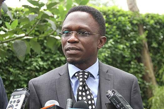 Foreign Affairs CAS Ababu Namwamba speaking to the press in a past function
