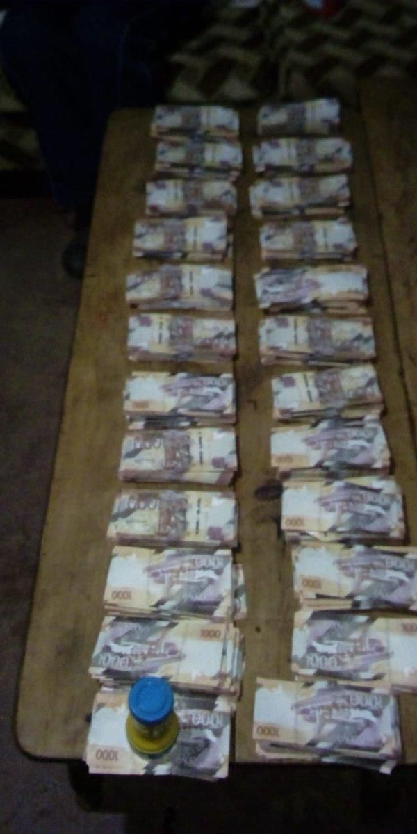 Money recovered in 60-year-old Mary Kyalo's house. She was arrested alongside her grandson John Kamau Mulei.