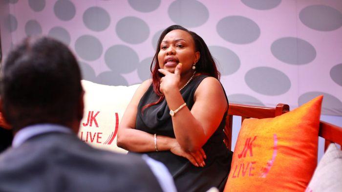 Millicent Omanga on JKLive. She defended her party and her nominated position