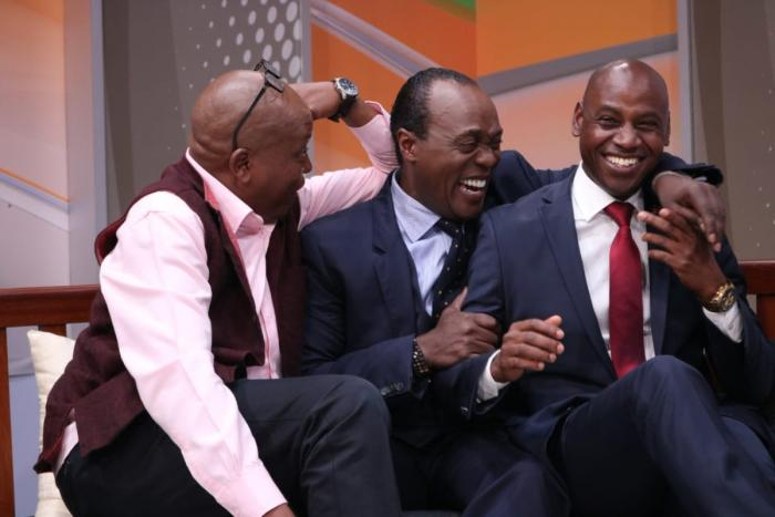 News anchor Jeff Koinange hosted Walter Mong'are and Tony Njuguna who recalled their early acting days on JKLIve.