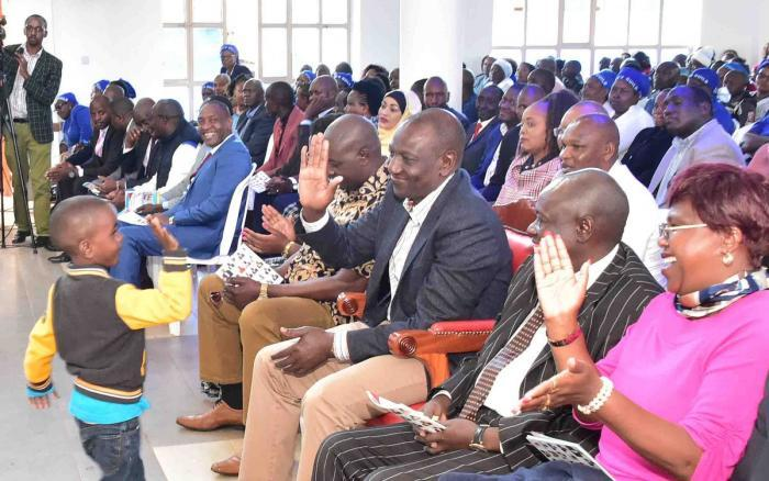 Deputy President William Ruto attends a church service in service at Karatina Presbyterian Church of East Africa (PCEA), Mathira Constituency, Nyeri County, on Sunday, October 27, 2019.