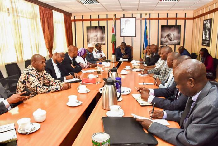 CS Matiang'i heads a meeting with Marsasbit leaders on Friday Novermber 8 2019.