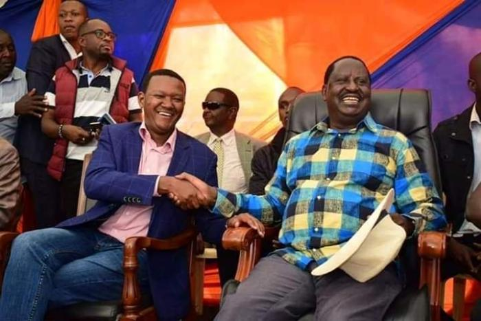 Governor Alfred Mutua, when he joined ODM Party leader, Raila Odinga to drum up support for Imran Okoth in the November 7, Kibra by-election