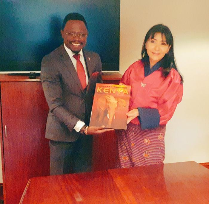 CAS for the Ministry of Foreign Affairs and International Trade, Ababu Namwamba with the Queen Mother of Bhutan on November 12.