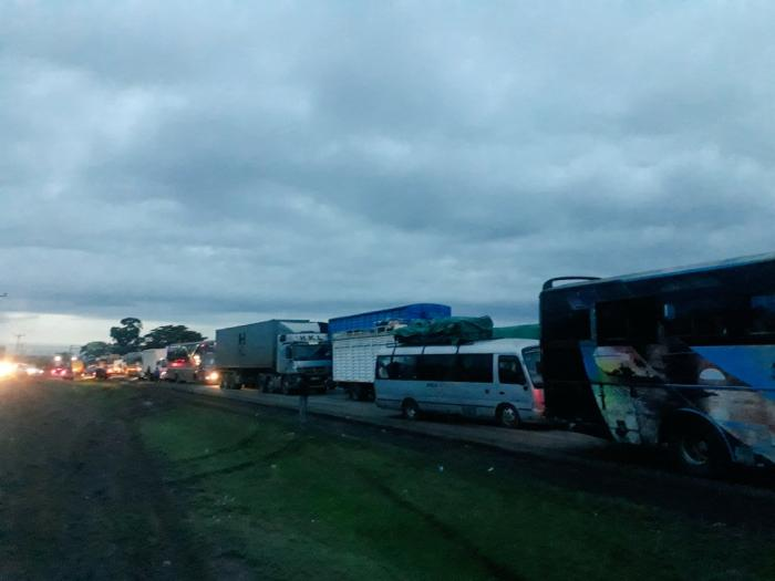 The traffic nightmare at Gilgil on December 6
