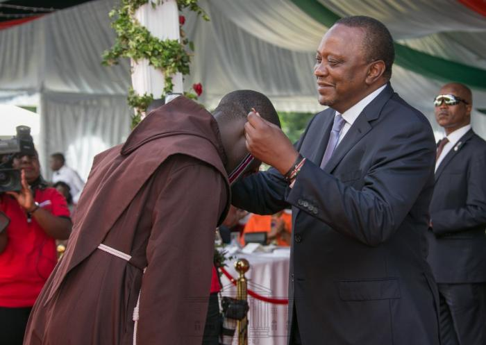 President Kenyatta awards teacher Tabichi at State House Nairobi on December 12 2019