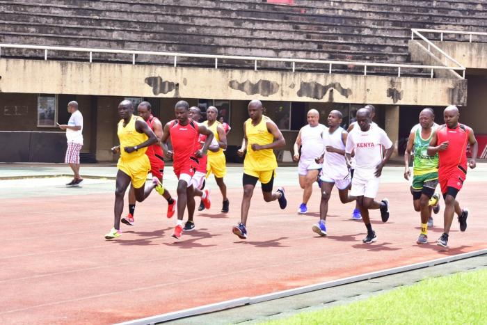Men's 1500 meters event at the 10 edition of the East African parliamentary games held at the Namboole Stadium in Kampala Uganda.
