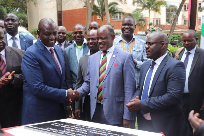 DP Ruto during the laying of the foundation stone for the William Ruto Leadership Institute at Makerere University, Uganda on Saturday, December 21, 2019