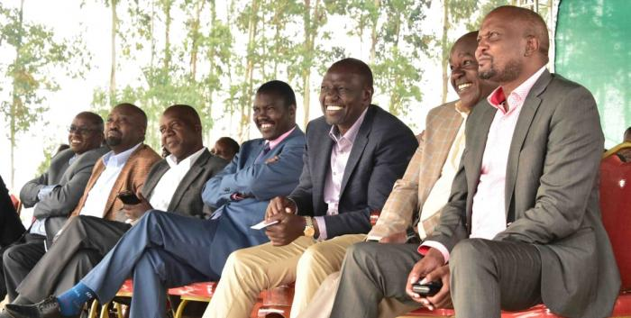 DP Ruto with Uasin Gishu County Governor Jackson Mandago at St. Paul's Makongi Secondary School, Uasin Gishu County, on Sunday, January 12. On Wednesday, January 3, conflicting reports emerged on the DP's whereabouts