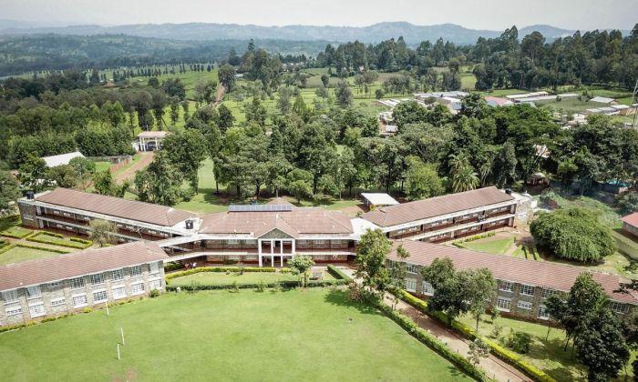 An aerial photo of Kabianga High School in Kericho county