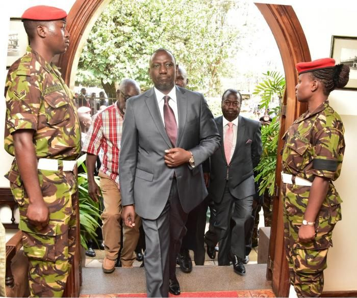 Deputy President William Ruto arrives at Lee Funeral Home on Tuesday, February 4