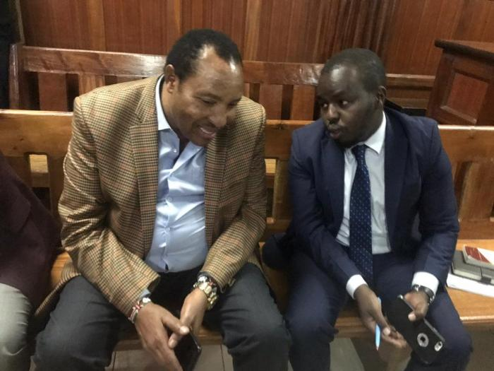Ousted Kiambu governor Ferdinand Waititu (Left) at the constitutional division of the High Court on Thursday, January 30.