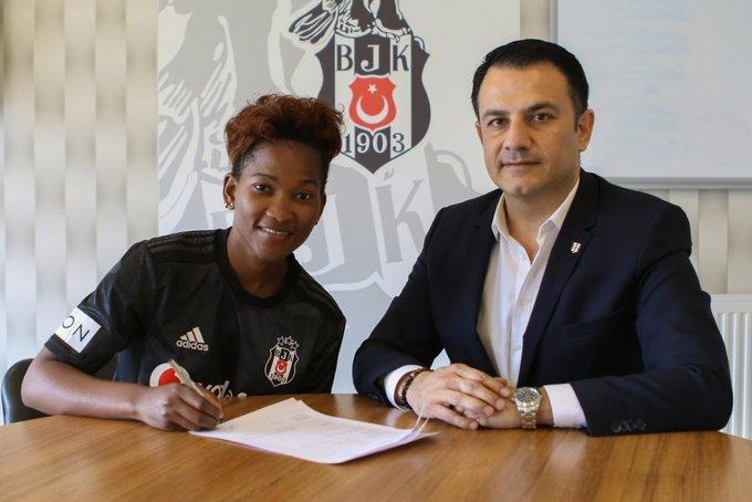 Harambee Starlets striker Essie Akida signs a contract with Besiktas on Monday, February 17