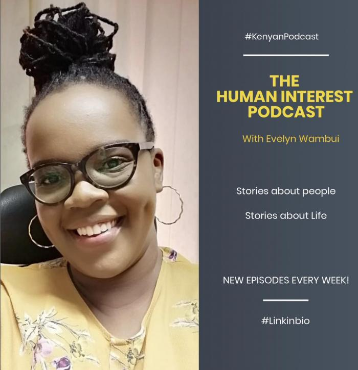 Evelyn Wambui announcing her podcast on Jume 23, 2019.