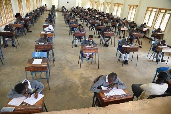 KCPE candidates at Booker Academy Mumias in Kakamega County sit the mathematics paper on October 29, 2019.