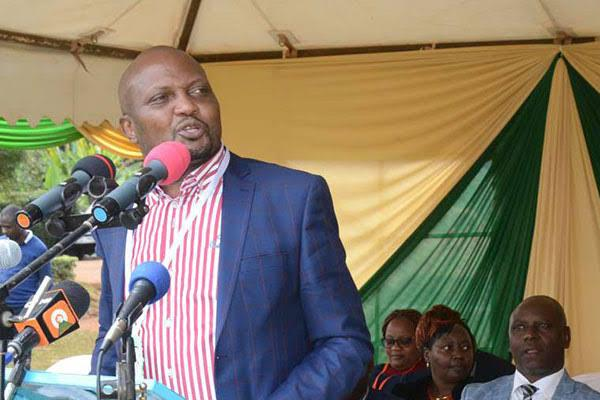 Gatundu South MP Moses Kuria makes an address on November 15 at the Sagana State Lodge. Kuria is subject to criticism by Ngunjiri Wambugu over his respect for the president.