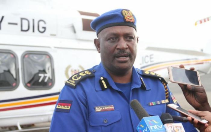 IG of Police Hillary Mutyambai speaking to the press in the past.