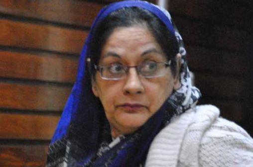 Akhtar Bhutt, the first wife of slain Mombasa tycoon Shahid Bhutt. The Mombasa High Court set the hearing of the succesion dispute for Thursday, November 7.