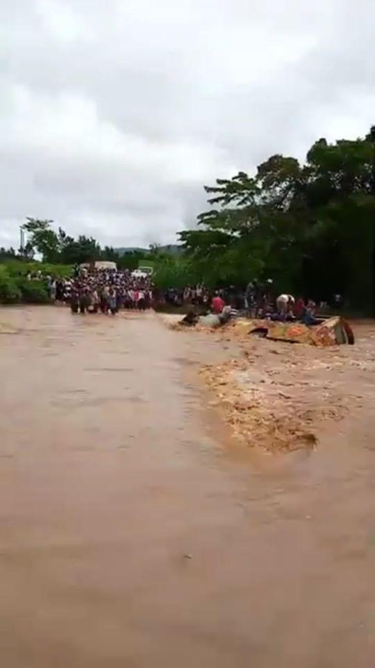 A bus ferrying 46 passengers was submerged in flood waters along Kalamba Road in Makueni County on Friday, December 6, 2019.