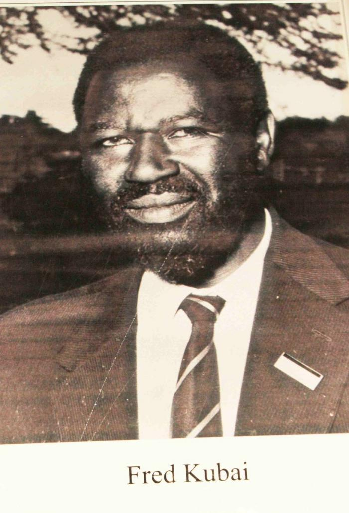 The late Assistant Minister for Labour and Social Services Fred Kubai