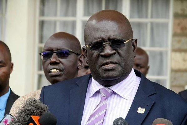 Education Cabinet Secretary George Magoha at St George's Secondary School in Nairobi on November 8, 2019. On Wednesday, January 8, the CS will launch scholarships for needy students