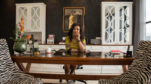 Gina Din in her office.