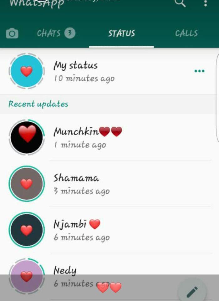 Reason Ladies Are Using Heart Emoji On Whatsapp Statuses To