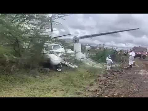 Reports from Kenya Aviation Authority stated that there were no fatalities and that only two passengers were slightly injured.