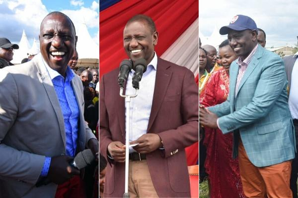 William Ruto in business casual at various events. The DP styled up his dress code
