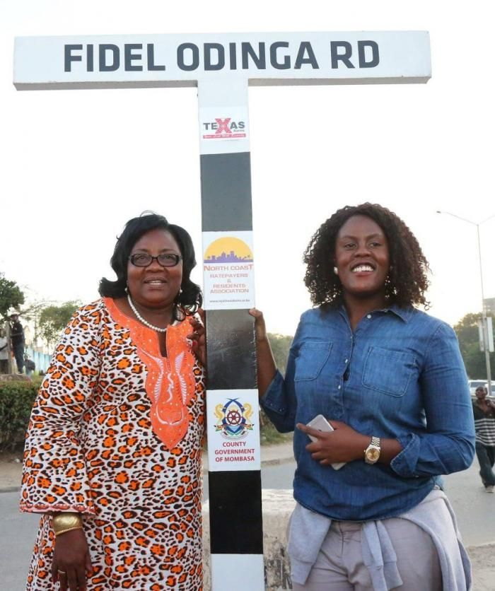 Ida Odinga and her daughter Winnie Odinga. The two ganged up against Fidel Odinga's widow, Lwam Bekele over his multimillion estate.