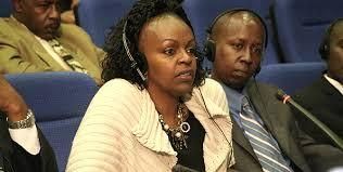 The late JM Kariuki's children Rosemary Machua (left) and Tony Kariuki (right) appearing before the Truth, Justice and Reconciliation Commission at NHIF building on March 05 2012.