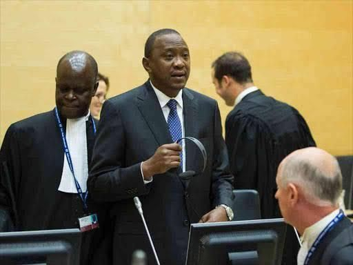 President Uhuru Kenyatta during a court session at the ICC in Hague, Netherlands, 2013.