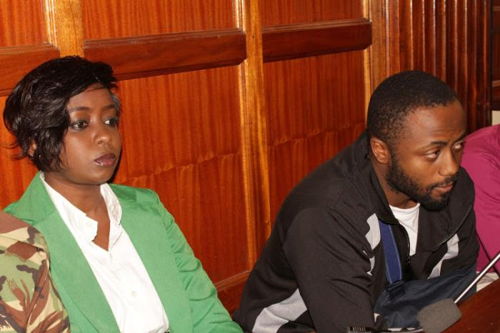 Jacque Maribe and Joseph Irungu at a Milimani court on October 15, 2018 where they were charged with murdering Monica Kimani.