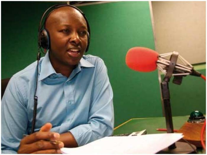 NTV Consulting Editor Joseph Warungu hosts a radio show during his stint at the British Broadcasting Corporation (BBC)