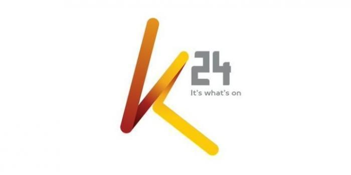 K24 TV's new logo. Its parent company, Mediamax Network Limited laid off over 100 employees on October 30, citing tough economic times.
