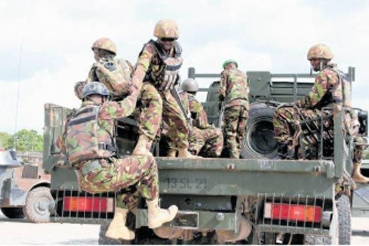 KDF Soldiers in action in 2019.