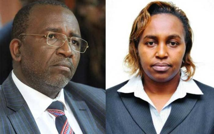 Embattled Mr Linturi and Ms Keitany