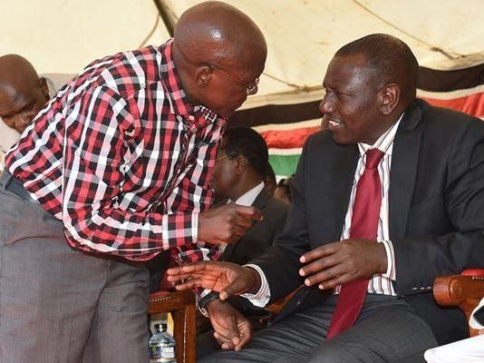 Image result for Ruto discussing with Boni Khalwale