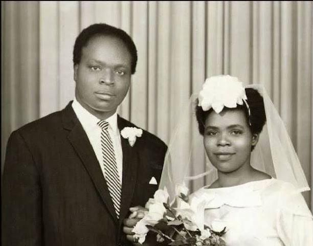 Lucy Kibaki and Mwai Kibaki during their wedding in 1962.