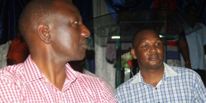DP William Ruto and his personal assistant Farouk Kibet. Kibet is the DP's most powerful aide. On Sunday, October 13, Suna East MP Junet Mohamed accused him of bribing voters in Kibra.
