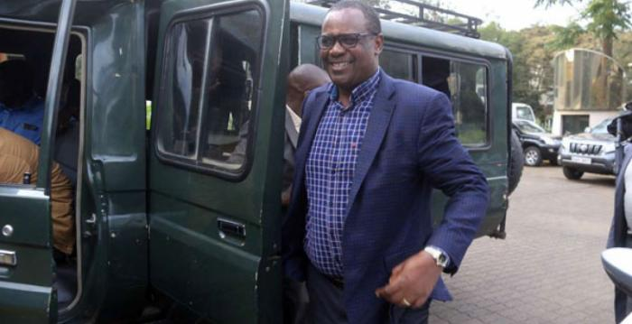 Evans Kidero at the Integrity Center after his arrest on April 2019. he has called out his arrest and subsequent prosecution a witchhunt by individuals aiming at tainting his career.