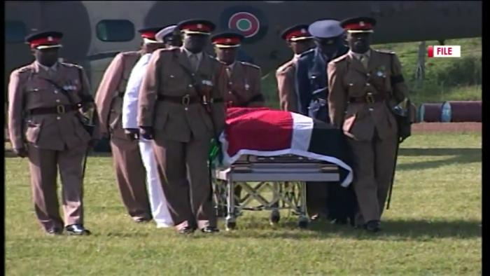 Kenya's second president Kijana Wamalwa;s funeral in 2003.