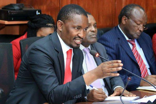 Former Agriculture CS Mwangi Kiunjuri appearing before the National Assembly in 2019. On Tuesday, January 21, the EACC grilled him over an expenditure totalling Ksh1.8 billion in his ministry.